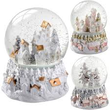 christmas tree snow globe ebay