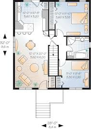 House Plans Traditional First Floor Plan Of Bungalow Country Traditional House Plan 65052