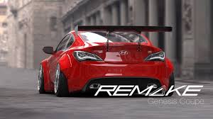 hyundai genesis coupe parts remake widebody rear flares genesis coupe 2013 2015 gctuner