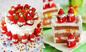 Christmas Cake Decorations Santa by Wonderful Diy Cute Santa Strawberry Cake