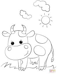 farm cow coloring pages animal of pagestocoloring farm