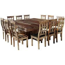 Ranch Large Square Dining Table Chair Set For  People - Dining room furniture dallas