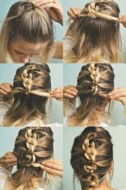 easy messy buns for shoulder length hair 18 quick and simple updo hairstyles for medium hair popular haircuts