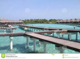 maldives overwater bungalows stock image image 32216021