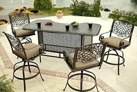 patio bar height dining set patio furniture bar set artrio info