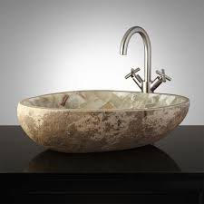 vessel sinks natural river stonesel sink awful images ideas