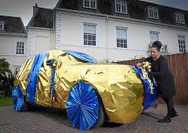 car wrapped in wrapping paper mega millionaire academy lottery winners how to gift wrap a