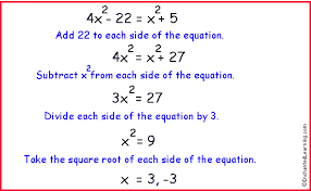 algebra quadratic equations with no linear term