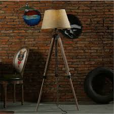wonderland fabric lampshade wood floor lamp american rustic