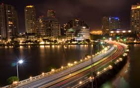 imagenes miami de noche fotos gratis ligero puente horizonte tráfico noche