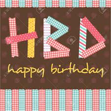 happy birthday card scrapbook style royalty free cliparts vectors