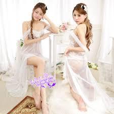 wedding sleepwear free shipping 2pcs wedding gifts sheer bridal babydoll
