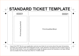 ticket template excellent standard ticket template exle with editable blank