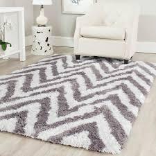 chevron rug living room safavieh chevron shag ivory gray 2 ft 6 in x 4 ft area rug sg250c