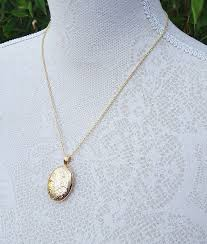 jewelry locket necklace images Large hand engraved 9ct gold locket charles green jpg