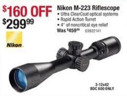 nikon black friday nikon m 223 riflescope 3 12x42 bdc 129 99 black friday 2014