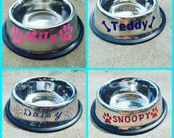 personalized bowl personalize dog bowl etsy