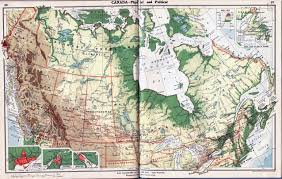 Political Map Of Canada by Large Detailed Old Physical And Political Map Of Canada Vidiani