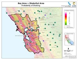 San Francisco Bay Map by Great Shakeout Earthquake Drills Bay Area