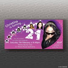 21st Birthday Invitation Cards Dc Design Invitations U0026 Misc