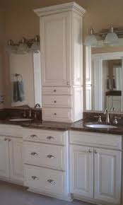double sink vanity with middle tower 17 best bathroom vanities images on pinterest bathrooms bathroom