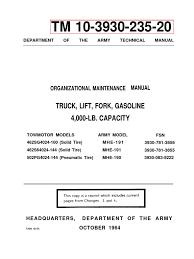 forklift maintenance manual tm 10 3930 235 20 distributor