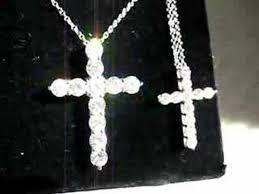 necklace cross diamond images Tiffany platinum diamond cross pendant small large jpg