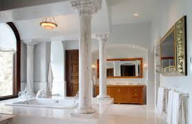 Marble Bathroom Ideas Marble Bathrooms Ideas Round Stainless Steel Light Recessed