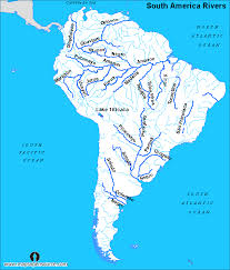 free south america rivers map rivers map of the south america