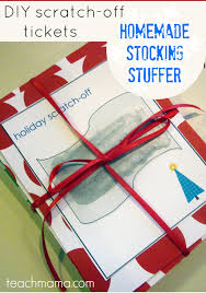 Holiday Crafts For Preschoolers - homemade scratch off tickets fun stocking stuffers