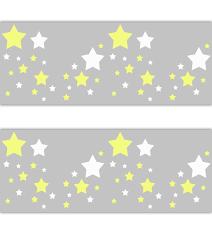 star nursery decal wallpaper border yellow grey wall art sticker