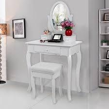 Coiffeuse Design Pour Chambre by Songmics Coiffeuse Table Blanche De Maquillage Avec Miroir Et