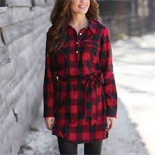 bale flannel shirt dress red black buffalo check mud pie mud pie
