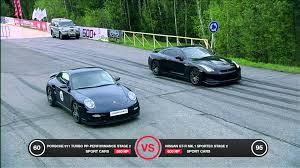 nissan gtr vs porsche 911 turbo vs nissan gt r battle
