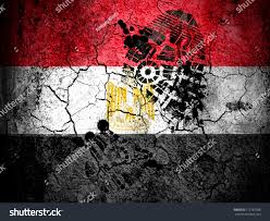 Egyption Flag Egyptian Flag Painted On Cracked Ground Stock Foto 112767568