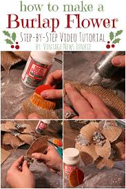 how to make a burlap flower with glitter video tutorial burlap