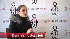 denny u0027s hostess job youtube