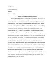 Tortilla Curtain Summary Writing 1 Essay 2 Two Paragraph Summary 1 Madison Ross