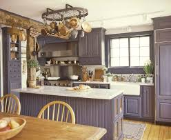kitchen island hanging pot racks captivating american colonial style kitchen with rectangle shape
