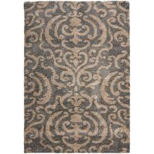 Beige And Gray Area Rugs Safavieh Florida Shag Gray Beige 8 Ft X 10 Ft Area Rug Sg462