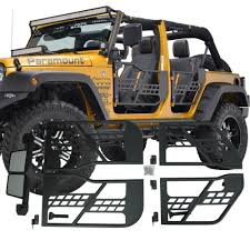 jeep jku half doors aliexpress com buy set j196 black steel half front rear tube