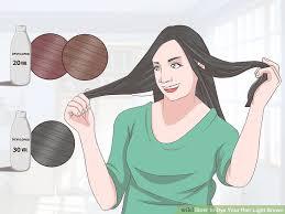 how to dye dark brown hair light brown 3 ways to dye your hair light brown wikihow