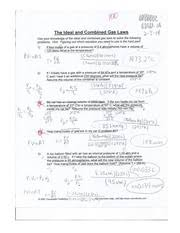 ideal and combined gas law practice