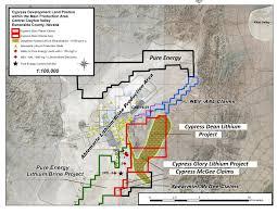 Nevada Map Glory Lithium Project Nevada Cypress Development Corp