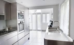 modern silver floor l stainless steel kitchen cabinet doors silver range hood integrated