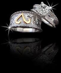 Western Wedding Rings by Western Wedding Set Engagement Rings Pinterest Western