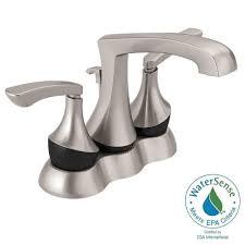 Centerset Faucet Definition by Delta Merge 4 In Centerset 2 Handle Bathroom Faucet In Spotshield