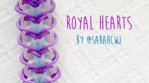 rainbow heart bracelet images Rainbow loom bands royal hearts bracelet by sarahcjw jpg