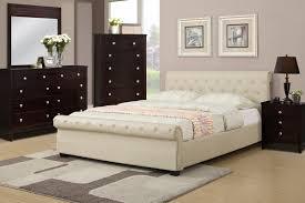 Leather Bed Frame Queen Poundex Associates F9245q Bobkona Xii Queen Size Platform Bed Frame