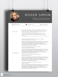 easy resume templates resume template roger 2pages easycv word